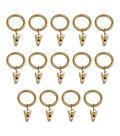 Kenney Curtain Rod Clip Rings-Brass 1\u0022 or 1.5\u0022
