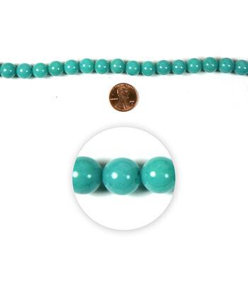Blue Moon Strung Mountain Jade Beads,Round,Turq Green
