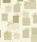 Christmas Cotton Fabric-Metallic Presents