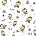 Nursery Flannel Fabric-Bees & Beehives