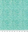 Novelty Cotton Fabric-Oceanic Scales Metallic