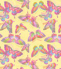 Flannel Fabric 42\u0027\u0027-Glitter Butterfly