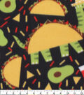 Blizzard Fleece Fabric-Fiesta Dino Taco