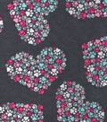 Snuggle Flannel Fabric 42\u0022-Heart Paw Cluster