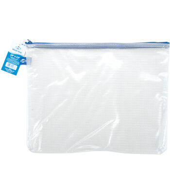 "Clear Mesh Bag with Zipper 10""x13"""