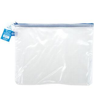 "Clear Mesh Bag with Zipper 10""x13"""