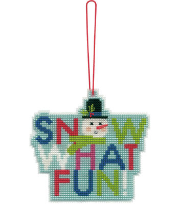Stitch Kit Ornament-Snow Fun