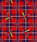 St. Louis Cardinals Fleece Fabric -Plaid