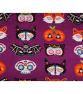 Halloween Cotton Fabric 43\u0022-Halloween Masks Panel
