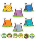 Creative Teaching Press Woodland 6\u0022 Pup Tents & 3\u0022, 72 Per Set, 3 Sets