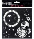 49 and Market 6\u0027\u0027x6\u0027\u0027 Laser Cut Shapes Archival Board-Timeless Black
