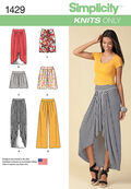 Simplicity Pattern 1429U5 16-18-20-2-Misses Skirts Pants