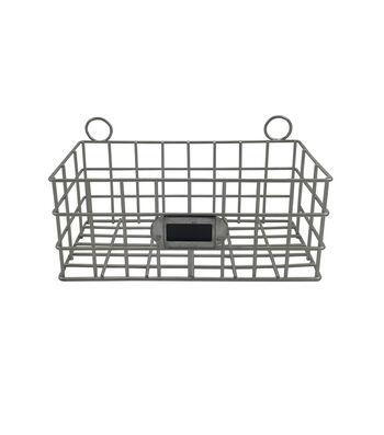 Hampton Home 7'' Galvanized Metal Basket