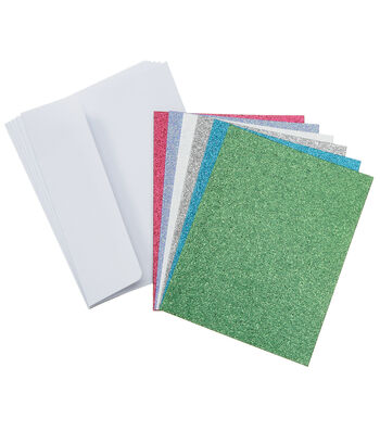 Core'dinations Card/Envelopes:  A2  Glitter Brights Assortment; 36 pack