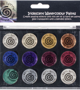 Cosmic Shimmer Iridescent Watercolor Palette Set 7-Christmas