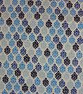 Brushed ITY Printed Knit Fabric -Boho Foulard Multi Blue