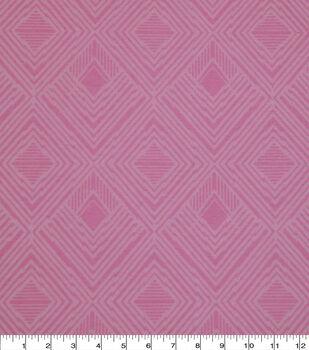 Wide Flannel Fabric-Pink Modern Diamond