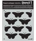 Stencil1 11\u0027\u0027x11\u0027\u0027 Repeat Wallpaper Stencil-Butterflies