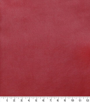 Faux Leather Fabric-Smooth Haute Red