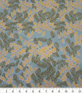 Quilter\u0027s Showcase Cotton Fabric-Leaves Sketched Teal Yellow