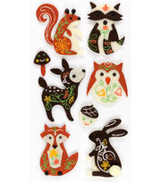 Jolee's Boutique Felt Stickers-Woodland Animals, , hi-res