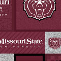 Missouri State University Bears Fleece Fabric-College Patch