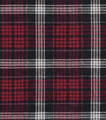 Snuggle Flannel Fabric -Carter Red Plaid