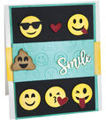 Sizzix Thinlits Textured Impressions By Lindsey Serata-Smile Emojis