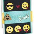 Sizzix Thinlits Lindsey Serata Dies with Embossing Folder-Smile Emojis