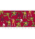 Teenage Mutant Ninja Turtles Cotton Fabric 43\u0027\u0027-Retro Slice of Action