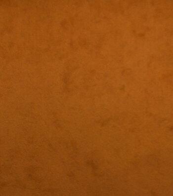 "Home Decor 8""x8"" Fabric Swatch-Suede Cognac"