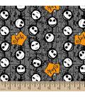 Halloween Cotton Fabric 43\u0022-Jack Head Toss