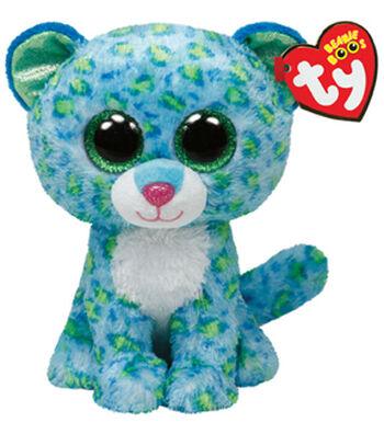 TY Beanie Boo Leona Blue Leopard
