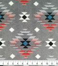 Specialty Luxe Fleece Fabric-Gray Bison Aztec
