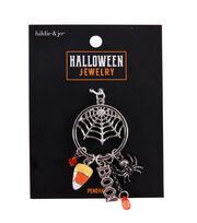 hildie & jo Halloween Jewelry Metal Spider Web Pendant-Silver, , hi-res