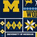 Michigan Wolverines Fleece Fabric-Sweater