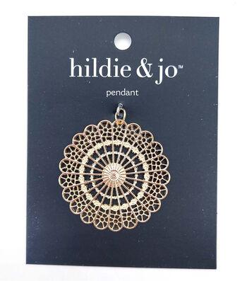 hildie & jo Metal Pendant-Medallion