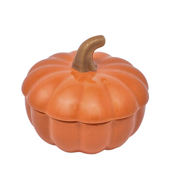 Simply Autumn Mini Covered Pumpkin
