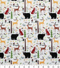 Novelty Cotton Fabric 43\u0027\u0027-Happy Forest Friends