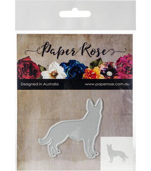 Paper Rose 2.16''x2.20'' Metal Die-Standing Dog