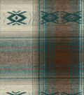 Flannel Shirting Fabric -Tribal Teal Brown