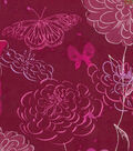 Keepsake Calico Cotton Fabric -Pink Butterfly & Floral