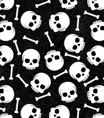 """Maker's Halloween 52""""x90"""" Tablecloth-Skulls & Bones"""