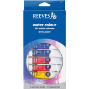 Reeves Watercolor Paint 10ml 12/Pkg-Assorted Colors, , hi-res