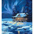 Paint By Number Kit 16\u0027\u0027X20\u0027\u0027-Moonlit Cabin