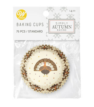 Wilton Simply Autumn Baking Cups-Turkey