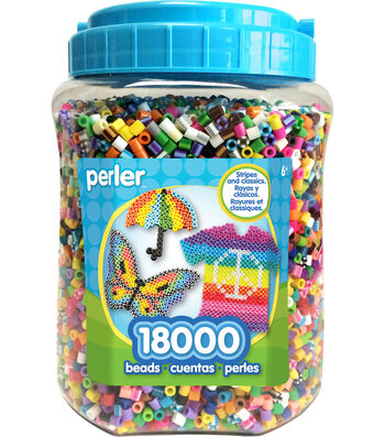 Perler Fun Fusion Bead Jar 18,000/Pkg-Multicolor