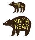 Cricut Large Iron-On Design-Mama & Baby Bear