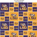 Louisiana State University Tigers Cotton Fabric -Block