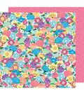 American Crafts Sunshine & Good Times 12\u0027\u0027x12\u0027\u0027 Cardstock-Flower Power